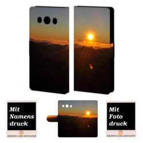 Handy Tasche mit Sonnenaufgang Bild Druck für Samsung Galaxy J5 (2016)