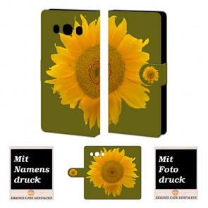 Samsung Galaxy J5 (2016) Sonnenblumen Handy Tasche Hülle Foto Bild Druck