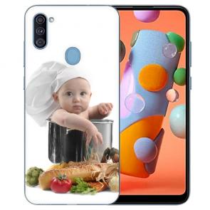 Schutzhülle Silikon Case für Samsung Galaxy A11 mit Foto Bilddruck