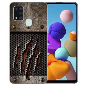 Samsung Galaxy A21s Silikon TPU Hülle mit Bilddruck Monster-Kralle
