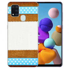 Samsung Galaxy M30S Silikon TPU Hülle mit Fotodruck Muster Etui