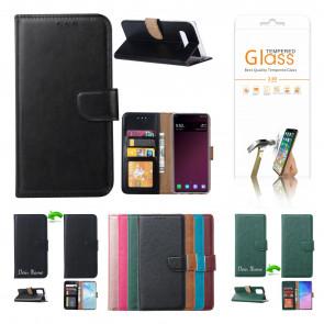 Schutzhülle für Samsung Galaxy A21s mit Displayschutz Glas Schwarz