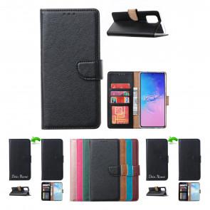 Schutzhülle für Samsung Galaxy A41 mit Magnetverschluss in Schwarz