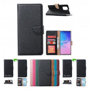 Schutzhülle mit Magnetverschluss in Schwarz für Samsung Galaxy A71