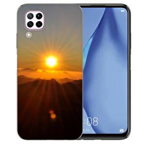 Huawei P40 Lite Silikon TPU Schutzhülle mit Bilddruck Sonnenaufgang