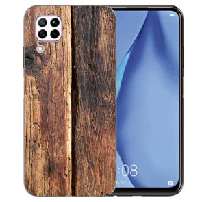 Silikon TPU Schutzhülle mit HolzOptik Bilddruck für Huawei P40 Lite
