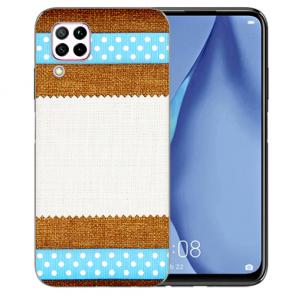 Silikon TPU Hülle mit Muster Bilddruck für Huawei P40 Lite Etui