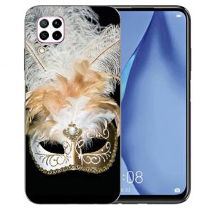 Huawei P40 Lite Silikon TPU Schutzhülle mit Bilddruck Venedig Maske