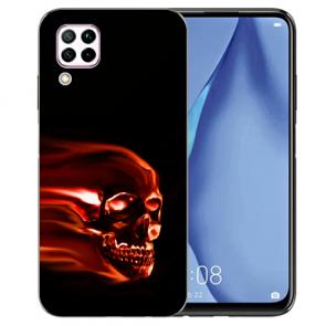 Silikon TPU Schutzhülle mit Bilddruck Totenschädel für Huawei P40 Lite