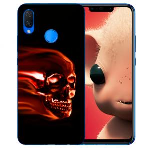 Silikon TPU Hülle mit Totenschädel Fotodruck für Huawei P Smart Plus
