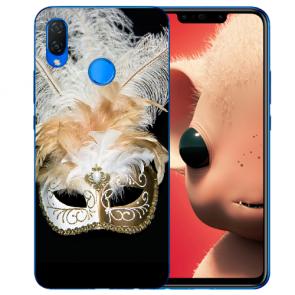 Huawei P Smart Plus Silikon TPU Hülle mit Venedig Maske Fotodruck