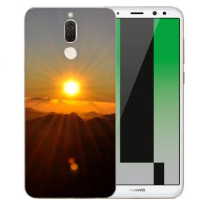 Huawei Mate 10 Lite Silikon TPU Hülle mit Bilddruck Sonnenaufgang