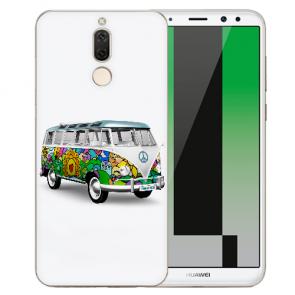 Huawei Mate 10 Lite Silikon TPU Hülle mit Bilddruck Hippie Bus