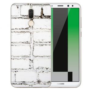 Huawei Mate 10 Lite Schutzhülle Silikon TPU mit Bilddruck Weiße Mauer