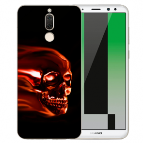 Huawei Mate 10 Lite Silikon TPU Hülle mit Bilddruck Totenschädel