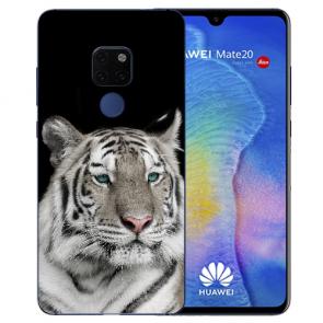 Huawei Mate 20 Silikon TPU Case Schutzhülle mit Tiger Namen Bilddruck