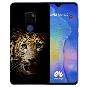 Huawei Mate 20 Silikon TPU Case Schutzhülle mit Bilddruck Leopard
