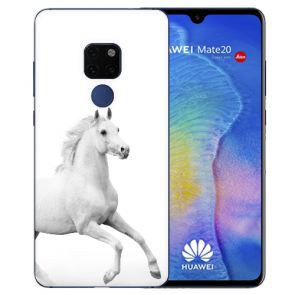 Huawei Mate 20 Silikon TPU Case Schutzhülle mit Pferd Namen Bilddruck