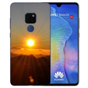 Huawei Mate 20 Silikon TPU Hülle mit Bilddruck Sonnenaufgang