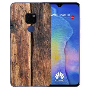 Huawei Mate 20 Schutzhülle Silikon TPU Hülle mit Bilddruck HolzOptik