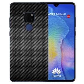 Huawei Mate 20 Silikon TPU Case Schutzhülle mit Bilddruck Carbon Optik