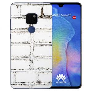 Huawei Mate 20 Schutzhülle Silikon TPU Hülle mit Bilddruck Weiße Mauer