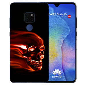 Huawei Mate 20 Silikon TPU Schutzhülle mit Bilddruck Totenschädel