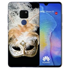 Huawei Mate 20 Silikon TPU Hülle mit Bilddruck Venedig Maske