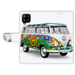 Handy Hülle Tasche für Samsung Galaxy A42 mit Bilddruck Hippie Bus
