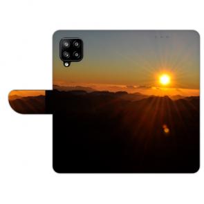Handy Hülle Tasche mit Bilddruck Sonnenaufgang für Samsung Galaxy A42