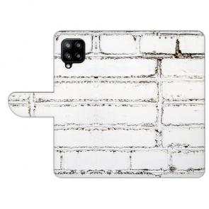 Samsung Galaxy A42 Handy Tasche mit Bilddruck Weiße Mauer Etui