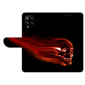 Samsung Galaxy A42 Handy Hülle Tasche mit Bilddruck Totenschädel