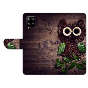 Handy Hülle mit Bilddruck Kaffee Eule für Samsung Galaxy A42 Etui