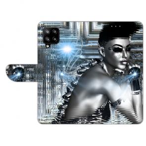 Handy Tasche mit Bilddruck Robot Girl für Samsung Galaxy A42