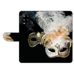 Samsung Galaxy A42 Handy Hülle Tasche mit Bilddruck Venedig Maske Etui