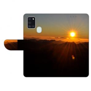 Samsung Galaxy A21s Handy Hülle mit Foto Namen Druck Sonnenaufgang