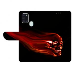Handy Hülle mit Totenschädel Fotodruck für Samsung Galaxy A21s Etui