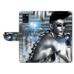 Samsung Galaxy A21s Personalisierte Handyhülle mit Bilddruck Robot Girl
