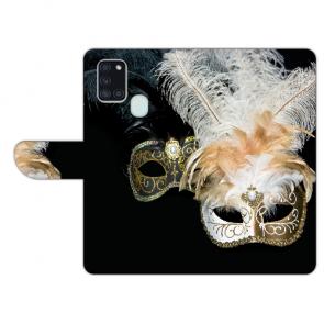 Samsung Galaxy A21s Handy Hülle mit Venedig Maske Fotodruck