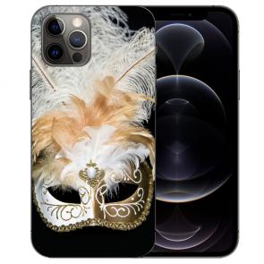 iPhone 12 Pro Max Handy Hülle Tasche mit Bilddruck Venedig Maske