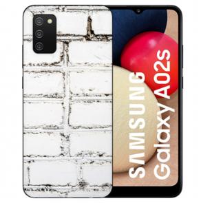 individuelle Schutzhülle mit Foto Bild für Samsung Galaxy A02S Weiße Mauer