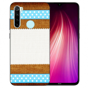 XIAOMI Redmi Note 8 TPU Hülle mit Fotodruck Muster Etui