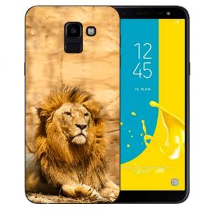 Silikon TPU Hülle mit Löwe Bilddruck für Samsung Galaxy J6 (2018)
