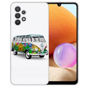 Samsung Galaxy A32 4G Schutzhülle Silikon TPU Bilddruck Hippie Bus