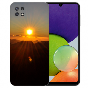 Samsung Galaxy A22 (5G) TPU Silikon Hülle mit Bilddruck Sonnenaufgang
