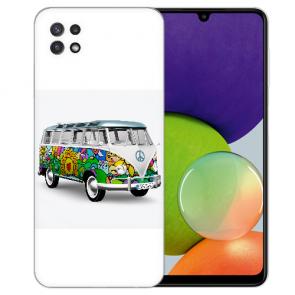 Samsung Galaxy A22 (5G) TPU Silikon Hülle mit Bilddruck Hippie Bus