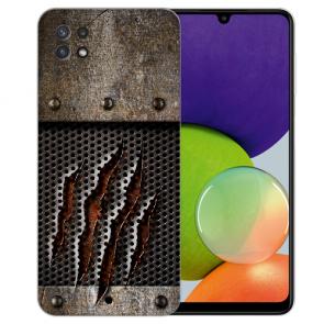Samsung Galaxy A22 (5G) TPU Silikon Hülle mit Foto Druck Monster-Kralle