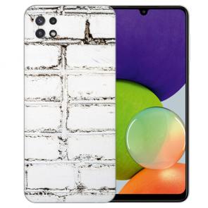 Samsung Galaxy A22 (5G) TPU Silikon Hülle mit Weiße Mauer Foto Druck