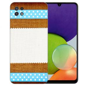 Samsung Galaxy A22 (5G) TPU Silikon Hülle mit Muster Foto Druck Etui