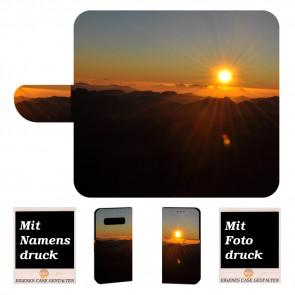 Samsung Galaxy S10e Handy Tasche mit Sonnenaufgang + Bilddruck